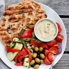 Easy Olive + Herb Grilled Flatbreads Recipe | Yummly