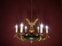 Empire Kronleuchter Antik ~ Sac a perle kronleuchter antik alte lampen kronleuchter auf