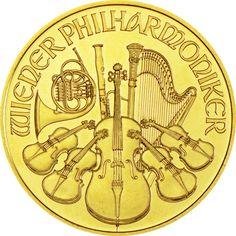 Philharmoniker 1 Unze Gold 2015,  9999/10000