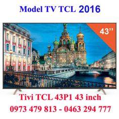 Tivi led TCL 43P1 Smart tv 43 inch full hd model 2016 chính hãng, giá rẻ