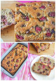 Dark Chocolate Raspberry Banana Bread. by Sally's Baking Addiction