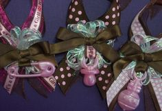 12  Baby Shower Corsage Favors Capia for Guests | suncitypartycreations - Children's on ArtFire
