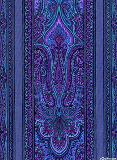 eQuilter Renaissance Garden - Palace Stripe - Royal Purple