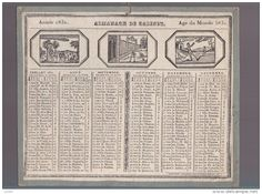 calendrier 1831