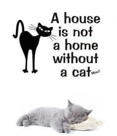 Kotek naklejka ścienna (proj. Pracownia Nitki)