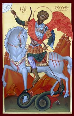 Byzantine Art, Byzantine Icons, Catholic Art, Religious Art, Religious Icons, Hl Georg, New Project Ideas, Traditional Paintings, Orthodox Icons