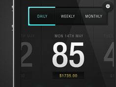 Envato Sales App - Another late night experiment! A concept for an app that lets you check your envato sales. The idea is you can slide through the days/weeks/months as it highlights the corresponding graph bar. (by Saxon Fletcher)