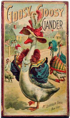 Goosy Goosy Gander, New York: McLoughlin Bros., [1896]  Board game.