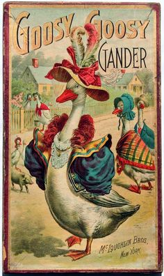 Goosy Goosy Gander, New York: McLoughlin Bros., [1896]  Board game.