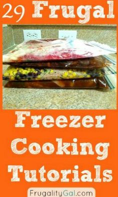 29 Frugal Freezer Cooking Tutorials. | www.frugalitygal.com