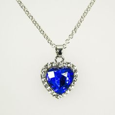 Hot New Titanic Crystal Heart of the Ocean Bling Rhinestone Pendant Necklace