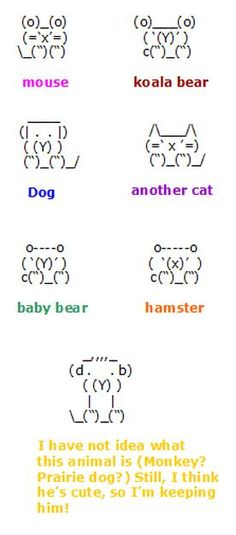 how to make a dog out of keyboard symbols - Google Search