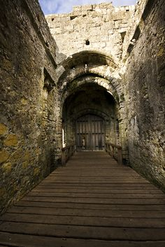 Porchester Castle, Hampshire, UK #castle