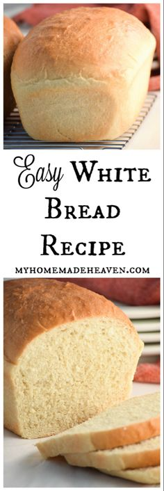 White Bread Soft and basic! Love this recipe! It's become our new go-to bread! Love that it only uses the most simple ingredients!Soft and basic! Love this recipe! It's become our new go-to bread! Love that it only uses the most simple ingredients! Loaf Recipes, Easy Bread Recipes, Baking Recipes, White Bread Recipes, Simple Recipes, Bread Flour Recipes, Pasta Recipes, Snack Recipes, Easy White Bread Recipe
