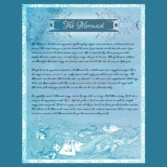 THE MERMAID, UNDINE Faerie, Digital Download, Fairy, Book of Shadows Page, Grimoire, Scrapbook, Spells by MorganaMagickSpell on Etsy