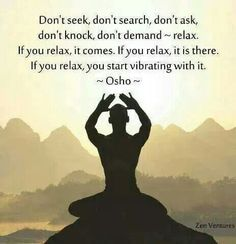 Relax and accept...