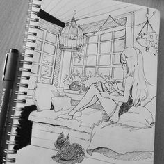 Brilliant Draw A Glass Ideas. Exquisite Draw A Glass Ideas. Amazing Drawings, Art Drawings Sketches, Cute Drawings, Amazing Art, Art Anime, Anime Kunst, Pretty Art, Cute Art, Background Drawing
