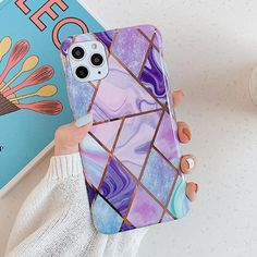 Luxury Plating Geometric Marble iPhone Case