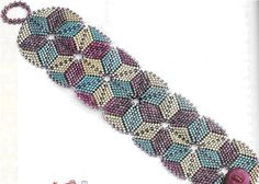 bracelet - triangles of different colors tutorial