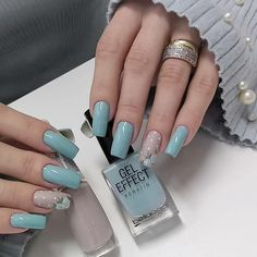 Nails green tips art designs 60 ideas for 2019 Stylish Nails, Trendy Nails, Almond Acrylic Nails, Unicorn Nails, Nails Tumblr, Square Nails, Acrylic Nail Designs, Manicure And Pedicure, Toe Nails