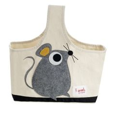 This adorable cotton canvas mouse caddy is perfect for keeping all of those little nursery essentials handy. A 3 Sprouts tote is ideal for making your own gift basket because you know that it will be useful for years to come.