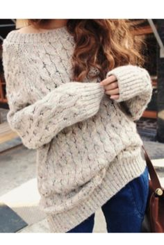 chunky knit sweater with some tights and a sweater and combat ...