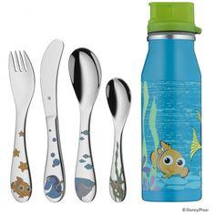 #Kinderbesteck / Kindergeschirr #WMF #12.8185.9980   WMF Child's set 5-pcs. Nemo  Blau Grün Silber Gelb     Hier klicken, um weiterzulesen.