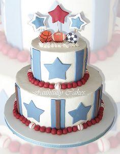 http://cakedecoratingcoursesonline.com/cake-decorating/ sports baby shower. #Baby #Shower #Cake #Design - Join Unique #Online Cake #Decorating #Courses on http://cakedecoratingcoursesonline.com now!