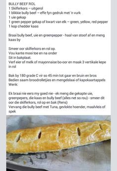 Dutch Recipes, Cooking Recipes, Rusk Recipe, Kos, Mini Beef Wellington, Good Food, Yummy Food, South African Recipes, Pasta Salad Recipes