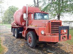 Mack DM Mix Concrete, Concrete Mixers, Cool Trucks, Big Trucks, Old Mack Trucks, Cement Mixer Truck, Vintage Trucks, Classic Trucks, Semi Trucks