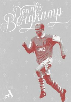 Football Poster designs on Behance Retro Football, Football Soccer, Football Players, Arsenal Players, Arsenal Fc, Dennis Bergkamp, Soccer Poster, Poster Designs, Squad