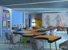 School art generation.drawing class: интерьер, современный, модернизм, учебное заведение, школа,колледж, 50 - 80 м2, кабинет рабочий #interiordesign #modern #educationalinstitution #school #college #50_80m2 #officeworker arXip.com