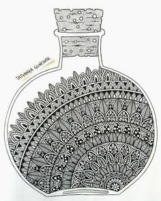 tattoo - mandala - art - design - line - henna - hand - back - sketch - doodle - girl - tat - tats - ink - inked - buddha - spirit - rose - symetric - etnic - inspired - design - sketch Mandala Sketch, Mandala Doodle, Mandala Drawing, Doodle Art Drawing, Zentangle Drawings, Art Drawings Sketches, Black Pen Drawing, Drawing Ideas, Mandala Art Lesson