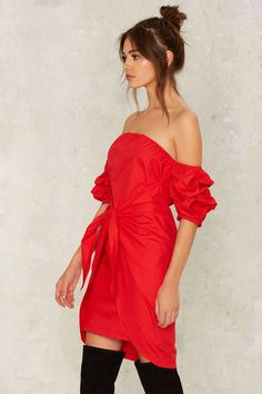 In the Bag Off-the-Shoulder Dress | Shop Clothes at Nasty Gal!