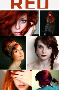 hair colors, red hair, shades of red, braids, gingers, redheads, redhair, red head, dyes