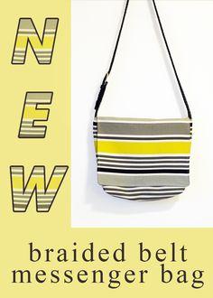 Cold Hands Warm Heart: NEW Braided Belt Messenger Bags!