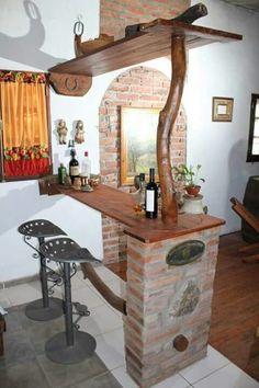 Mini Bars, Rustic Furniture, Furniture Design, Sweet Home, Interior Design Living Room, Home Projects, Diy Home Decor, Kitchen Decor, Kitchen Ideas
