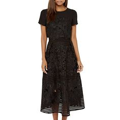 Buy Ted Baker Janelle Layered Lace Midi Dress, Black Online at johnlewis.com