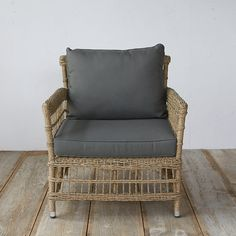 "Woven from lightweight, 100%-recyclable synthetic fibers over a fully-welded aluminum frame, this open weave chair with all-weather cushions was designed and crafted especially for terrain.- A terrain exclusive- Aluminum frame, round poly rattan- Cushions: Olefin outdoor fabric, outdoor foam, polyfiber wrap, polyfill fiber- Indoor or outdoor use- Clean periodically with mild soap and water- Seat: 12.2""H, 27.6""D- Imported31.9""H, 30.7""W, 32.7""D"