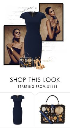 """""""no.270"""" by nina-k-307 ❤ liked on Polyvore featuring H.Stern, Roland Mouret, Dolce&Gabbana and Giuseppe Zanotti"""