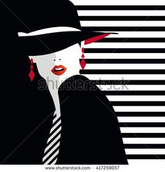 Fashion  teenage girl. Vector illustration - stock vector