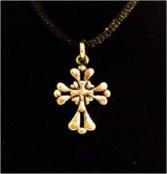 "Peace Be With U - Christian Store - Flower Cross 18"" Christian Necklace, $9.99 (http://www.peacebewithu.com/flower-cross-18-christian-necklace/)"