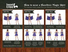 Wie Sie Ihre Hazeltree Magic Skirt zu binden - Hazeltree