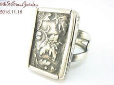 Retired R1839 Silpada Sterling Silver 925 Leaf Motif Ring Size 7 2009 #Silpada #Statement