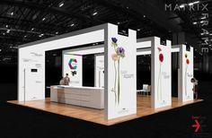#bematrix custom modular exhibition island solution, featuring #ecofriendly #LEDlightbox graphic illumination, seamless #SEGgraphics and portable #brumark #boothflooring . #2018 #backlitdisplay #moderndesign