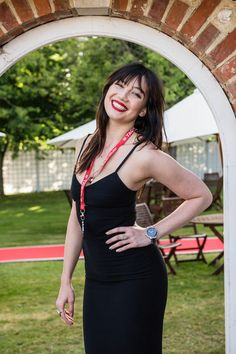 Daisy Lowe Photos Photos - In this photo provided by the TAG Heuer, Daisy Lowe poses with TAG Heuer at the Goodwood Festival of Speed on June 25, 2015 in Chichester, England. - Daisy Lowe With TAG Heuer At The Goodwood Festival of Speed