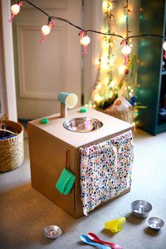 DIY cardboard kitchen