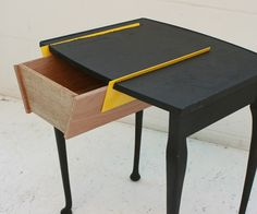 Edges (Yael Mer and Shay Alkalay) from Israel took a saw and some boards to redesign classic furnitures like this little table called Cut Attache'z