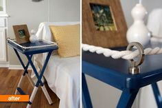 Elegant Diy Tips Decorate Home Using Rope. Below are the Diy Tips Decorate Home Using Rope. This post about Diy Tips Decorate Home Using Rope was posted under the Furniture category by our team at January 2019 at am. Hope you enjoy it and don& . Tv Tray Table, Tv Trays, Diy Table, Rope Crafts, Diy And Crafts, Decorating Your Home, Diy Home Decor, Decorating Ideas, Nautical Theme