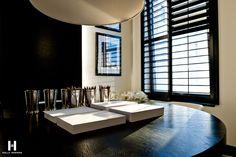 Love the shutters  Kelly Hoppen for Yoo Ltd @ Barkli Virgin House, Moscow, Russia. www.kellyhoppen.com